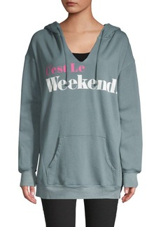 Wildfox Graphic Hooded Sweater