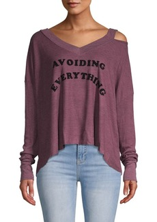 Wildfox Graphic Long-Sleeve Top