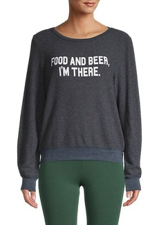 Wildfox Graphic Roundneck Sweater