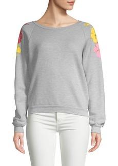 Wildfox Hibiscus Heathered Sweatshirt