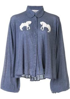 Wildfox horse-print blouse