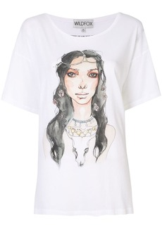 Wildfox illustrated graphic print T-shirt