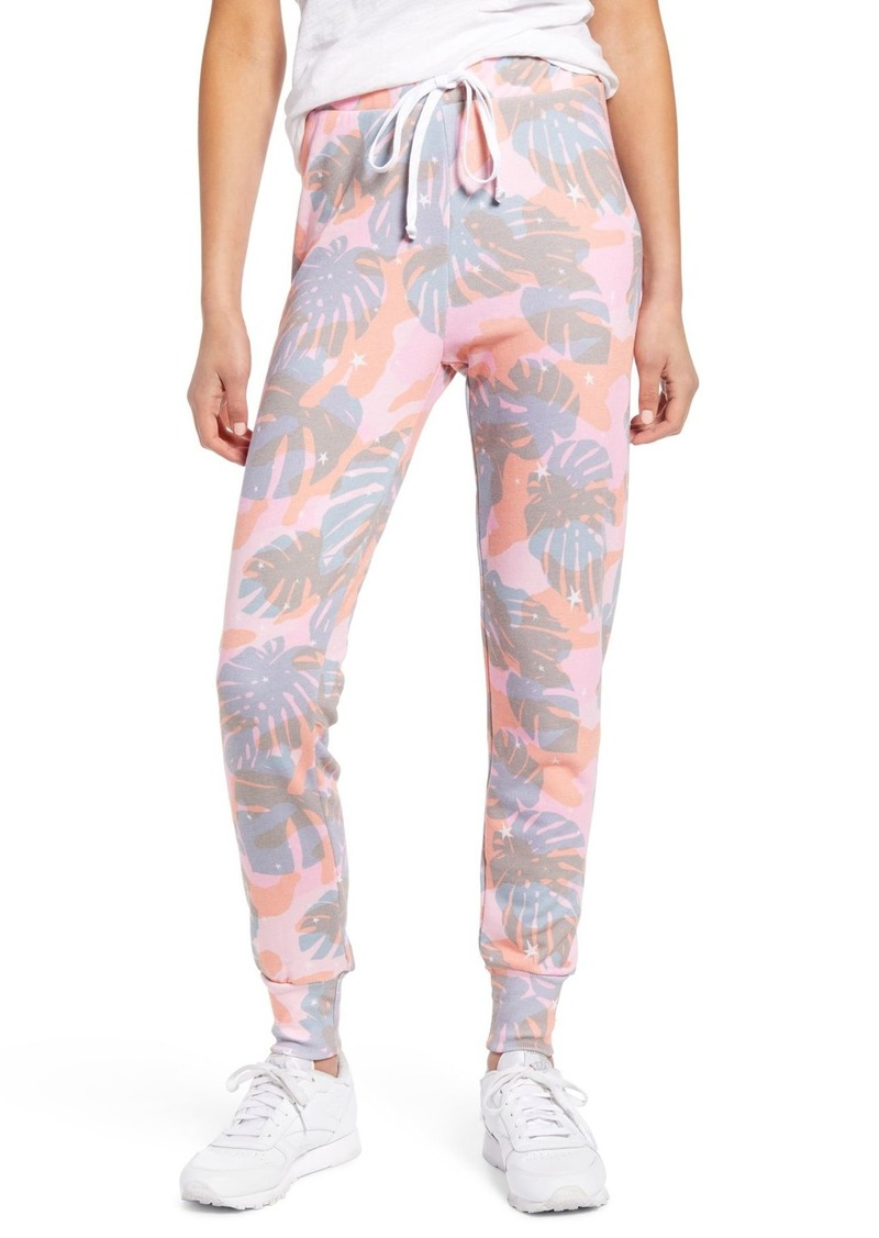 Wildfox Jack Tropical Camo Print Jogger Pants