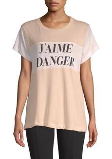 Wildfox J'Aime Danger Cotton Tee