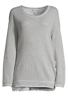 Wildfox Jenna Lace-Up Sweatshirt