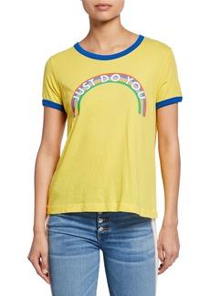 Wildfox Just Do You Johnny Ringer Short-Sleeve Slogan T-Shirt