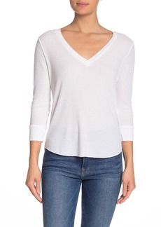 Wildfox Leroy V-Neck Solid T-Shirt