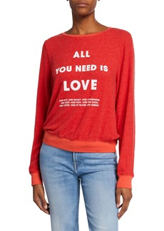 Wildfox List of Demands Baggy Beach Jumper Sweathirt