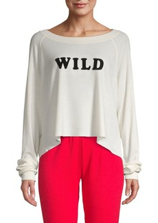 Wildfox Logo High-Low Pullover