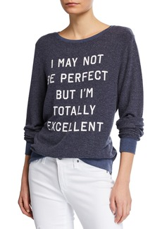Wildfox Long-Sleeve T-Shirt with Contrast Details