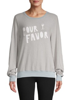 Wildfox Pour Favor Graphic Sweatshirt