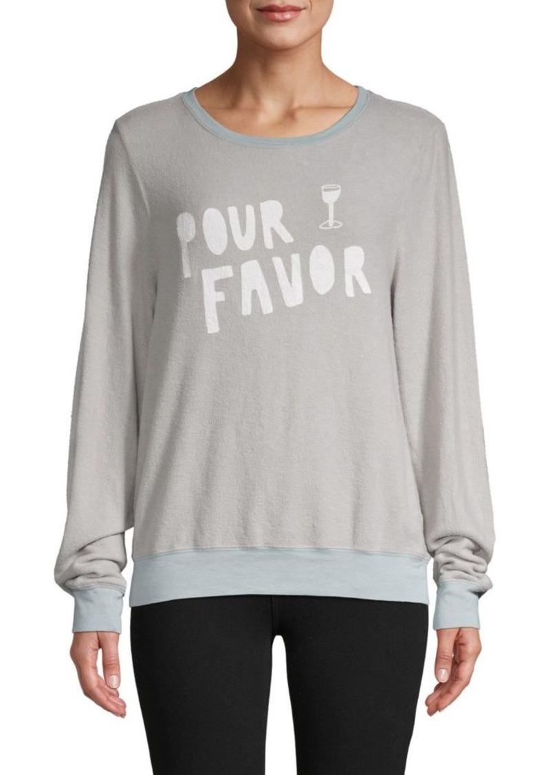 Wildfox Pour Favor Graphic Sweatshirt