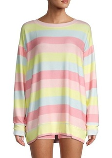 Wildfox Road Trip Oversized Striped Sweater