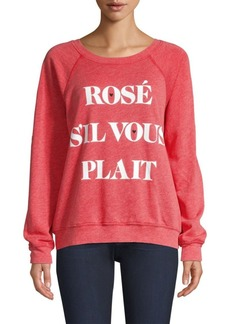 Wildfox Rosé Terry Sweatshirt