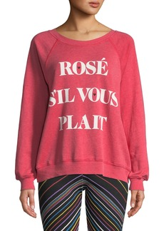 Wildfox Rose Sommers Raglan Pullover Sweater