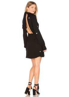 Scattered Heart Embroidery Turtleneck Dress