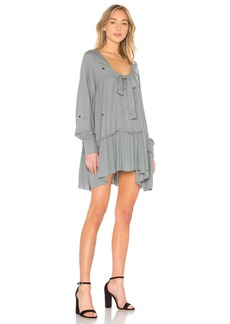 Scattered Star Embroidery Mini Dress