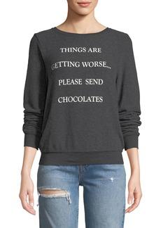 Wildfox Send Chocolates Graphic Pullover Sweater