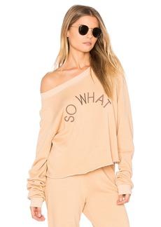 Wildfox So What Cropped Sweatshirt