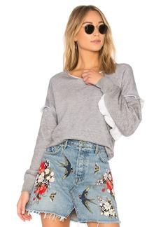 Wildfox Solid Ruffle Sweatshirt