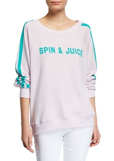Wildfox Spin & Juice Striped Pullover Sweater