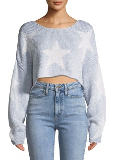 Wildfox Star-Crossed Cropped Sweater