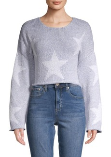Wildfox Star-Print Cropped Sweater