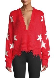 Wildfox Stars V-Neck Sweater