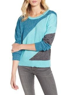 Wildfox Sydney Metallic Colorblock Knit Sweater