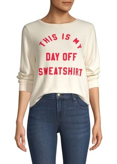 Wildfox This Is My Day Off Sweatshirt