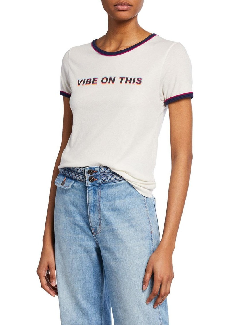 Wildfox Vibe On This Short-Sleeve Jersey Cotton Tee