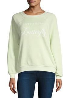 Wildfox Anti-Social Graphic Sweatshirt