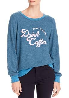 WILDFOX Baggy Beach Drink Coffee Sweatshirt