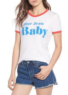 Wildfox Blue Jean Baby Ringer Tee