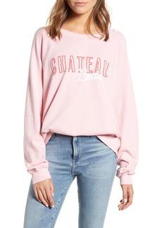 Wildfox Chateau Beau Cotton Sweatshirt