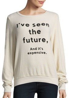 Wildfox Clairvoyant Long Sleeve Pullover
