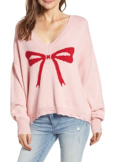 Wildfox Clement Intarsia Bow Sweater