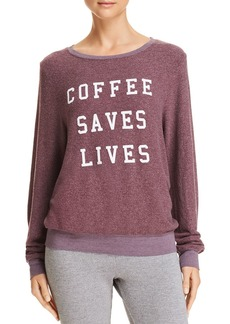 WILDFOX Coffee Saves Lives Sweatshirt