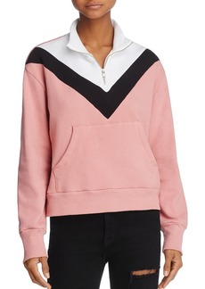 WILDFOX Color Block Soto Warm-Up Sweatshirt