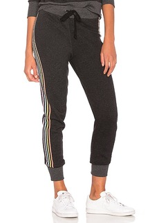 Wildfox Couture 80's Track Star Sweatpant in Black. - size L (also in M,S,XS)
