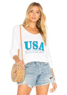 Wildfox Couture All The Way Baggy Beach V Sweater