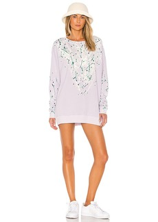 Wildfox Couture Bleach Dripped Roadtrip Sweatshirt Dress