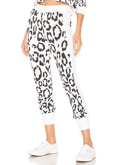 Wildfox Couture Blush Leopard Sport Jack Jogger