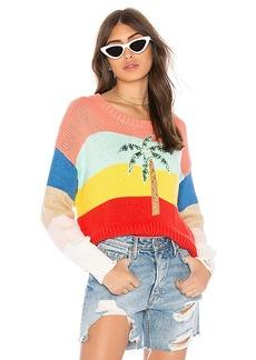 Wildfox Couture Cayman Palm Iris Sweater
