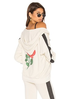 Wildfox Couture Fairest Rose Sweatshirt in Ivory. - size L (also in M,S,XS)
