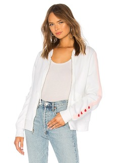 Wildfox Couture Love Track Sport Carta Zip Hoodie