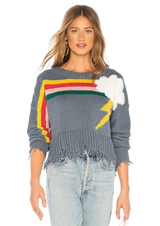 Wildfox Couture Rainbow Storm Sweater