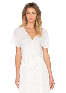 Wildfox Couture Short Sleeve Wrap Top