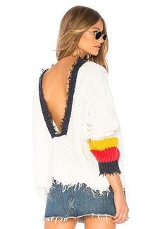 Wildfox Couture Sneak Out Stripe Palmetto Sweater