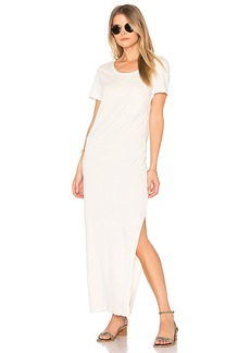 Wildfox Couture Solid Midi T-Shirt Dress in Ivory. - size L (also in M,S,XS)